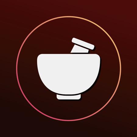symbol of pharmacy: mortar icon
