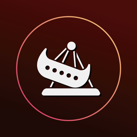 park: amusement park pirate ship icon