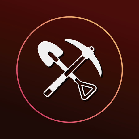 hand shovels: shovel icon Illustration