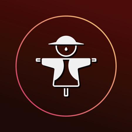 espantapajaros: Icono Espantap�jaros Vectores