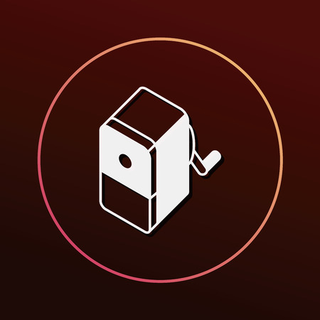 hole in one: Pencil sharpener icon Illustration