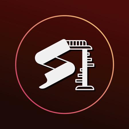 amusement park black and white: slide icon
