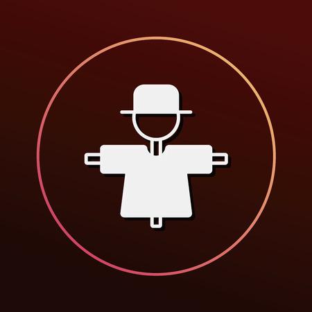 fall protection: Scarecrow icon Illustration