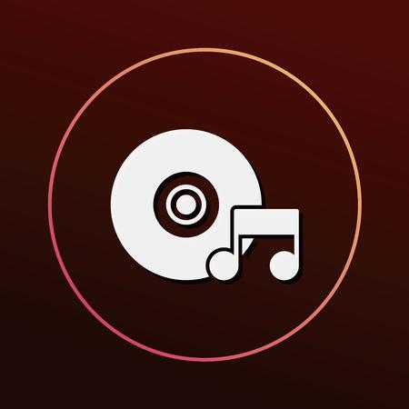 portable audio: music player icon Illustration