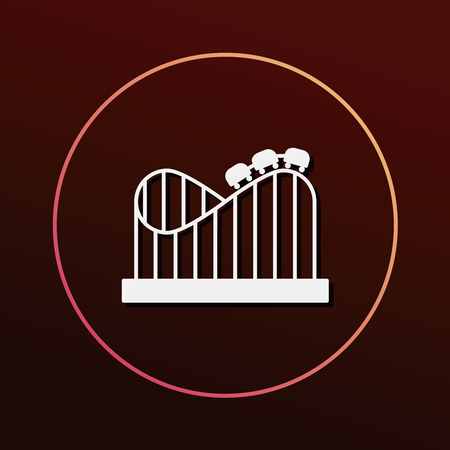 rollercoaster: amusement park roller coaster icon