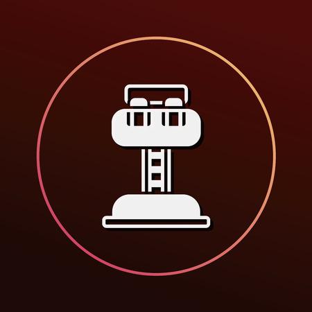thrill: amusement park drop tower icon