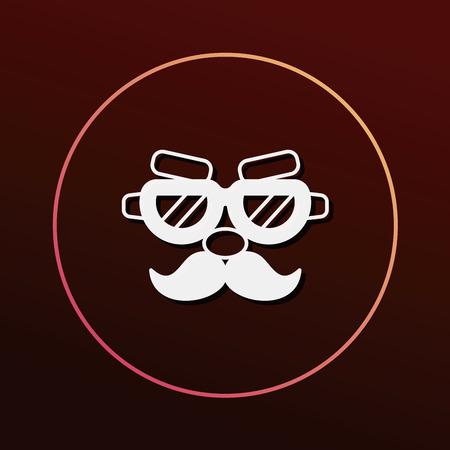 christmas cake: party mask icon Illustration