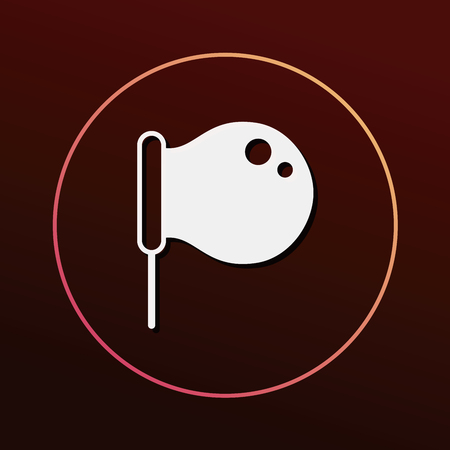 fun background: Blowing bubbles icon