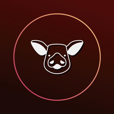 bacon art: pig icon