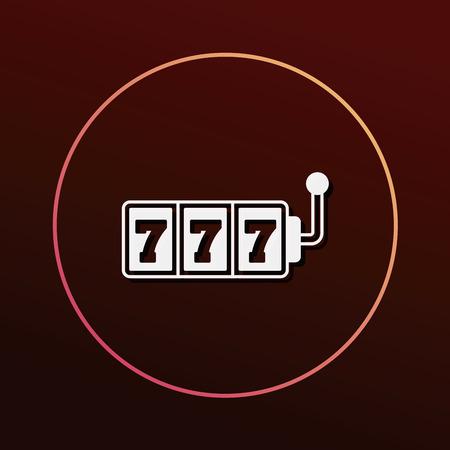 vegas sign: Slot Machine icon Illustration