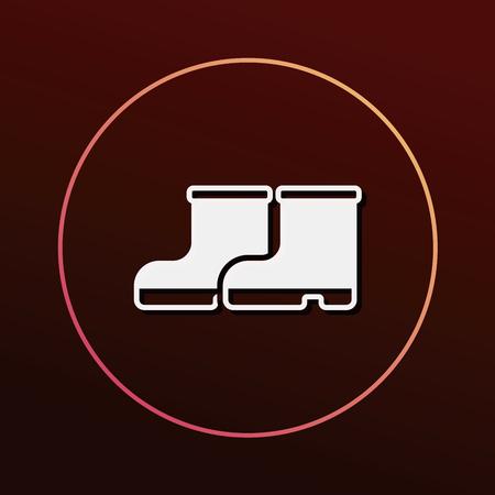 botas de lluvia: Botas de lluvia icono
