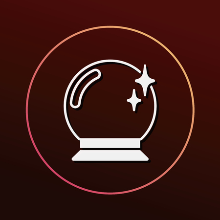 gazing: crystal ball icon Illustration