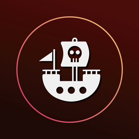 pirate ship icon 向量圖像