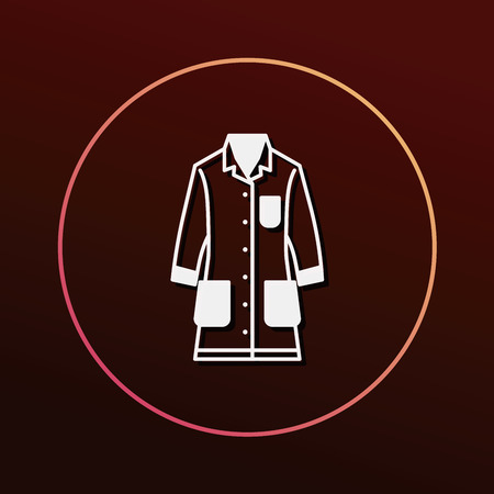 lab coat: Lab coat icon Illustration