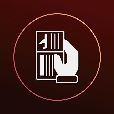 ticket icon: airplane ticket icon