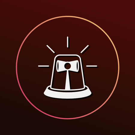 emergency attention: police bell icon
