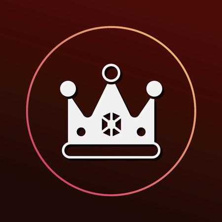 prince princess: crown icon Illustration