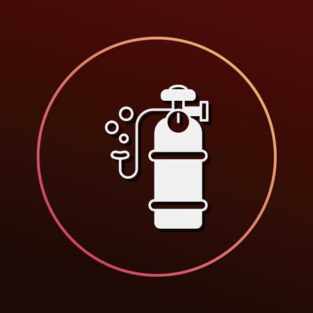 cilindro: Icono de cilindro de oxígeno