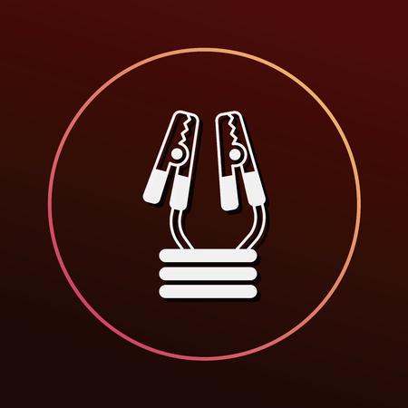 charging: Car charging icon Illustration