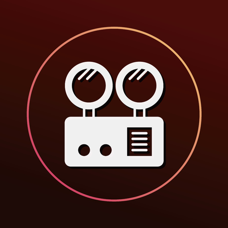 security lights: Emergency Lights icon Illustration