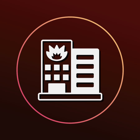 fire house: Fire house icon