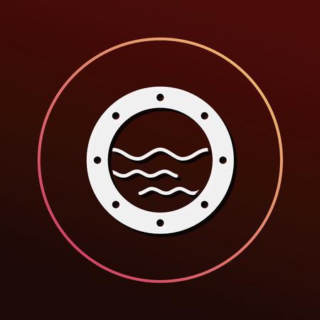 boat window icon 向量圖像