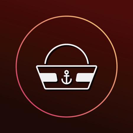 captain hat: captain hat icon Illustration