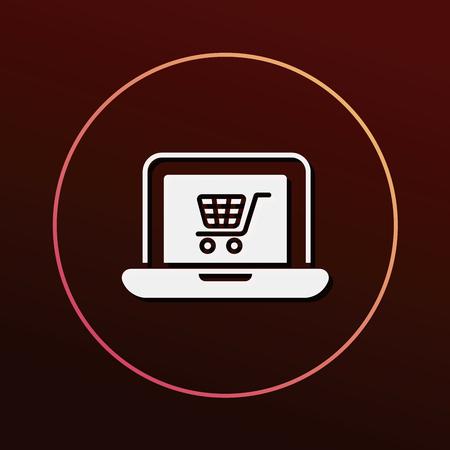 ecommerce: online shopping icon Illustration