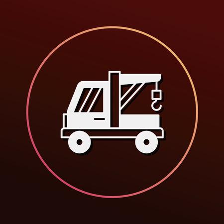 vehicle breakdown: Tow truck icon