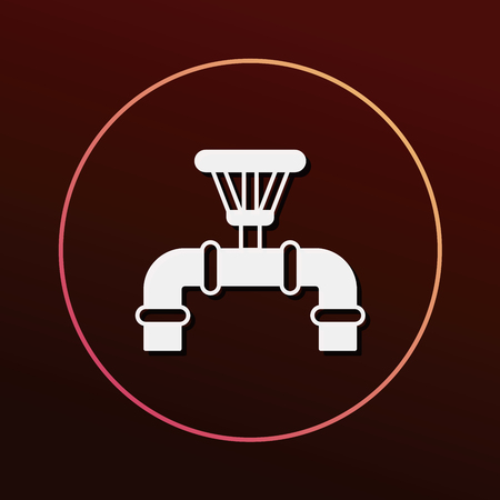 water pipe: Water pipe icon Illustration