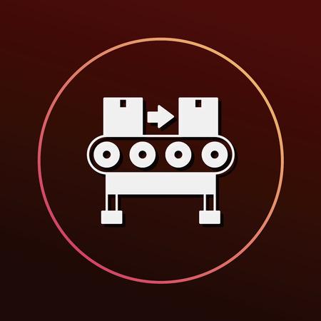 packaging equipment: Cargo conveyor icon