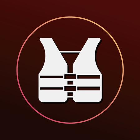 vest: safety vest icon