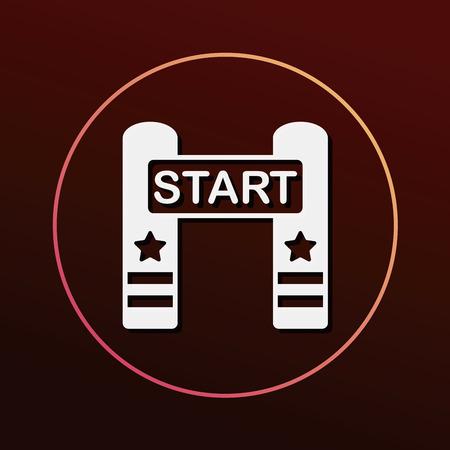 checker flag: start line icon