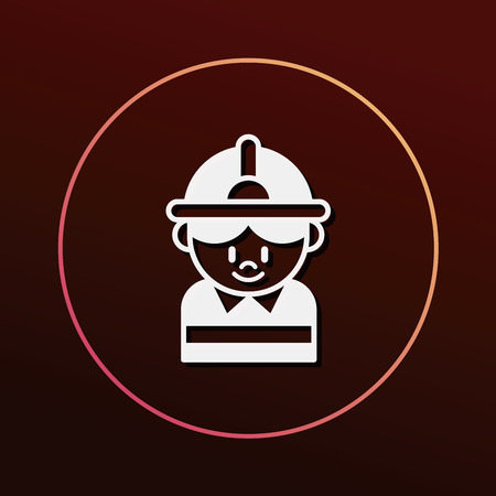 water damage: firefighter icon