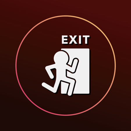 exit: exit icon Illustration
