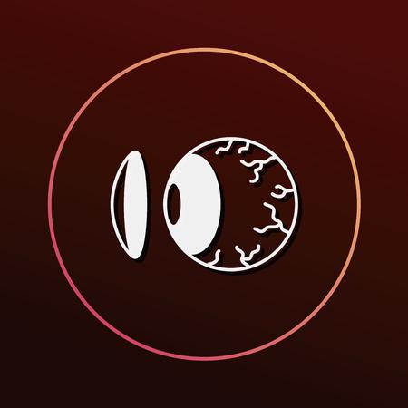 lentes de contacto: Las lentes de contacto icono Vectores