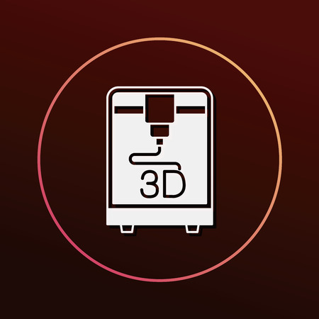 3D printing icon Stock Vector - 51171476