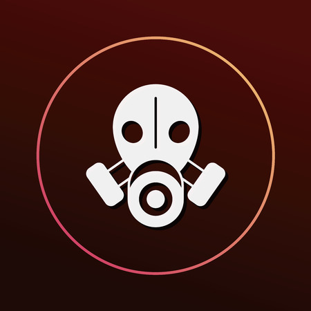protective gas mask: Gas masks icon