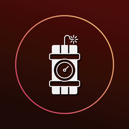 explosion risk: bomb icon Illustration