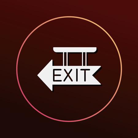 exit icon: exit icon Illustration