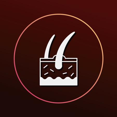 sebaceous: Hair root icon