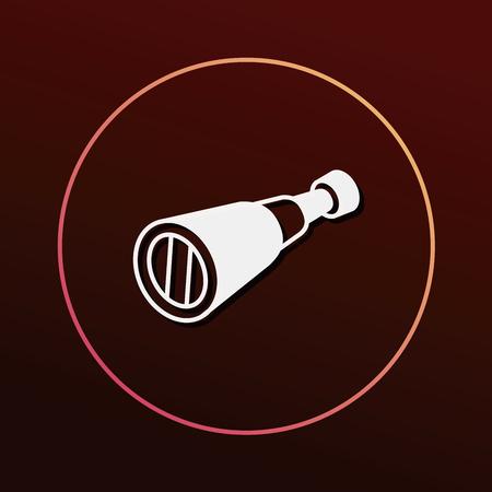 planetarium: telescope icon Illustration