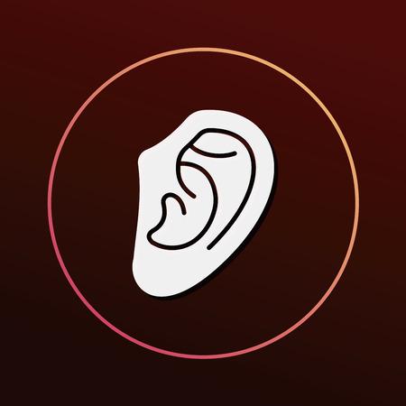 deafness: ear icon