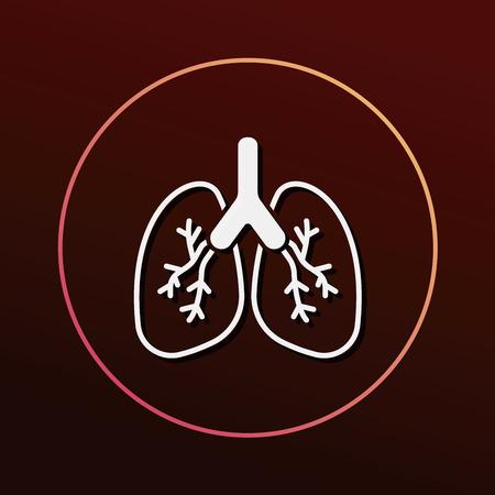 respiration: organ lung icon