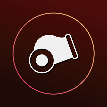 gun barrel: Cannon bomb icon