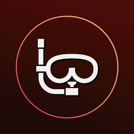 wear mask: Goggles icon