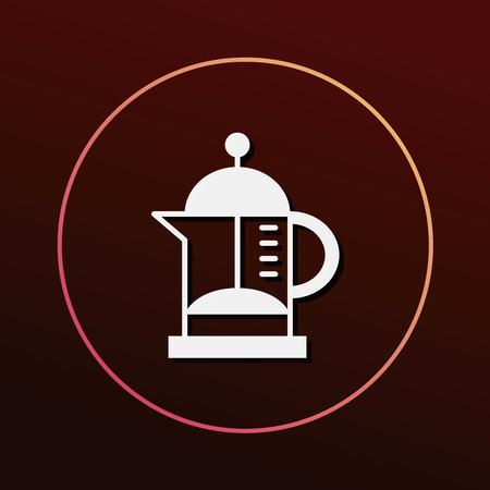 electric tea kettle: kettle icon