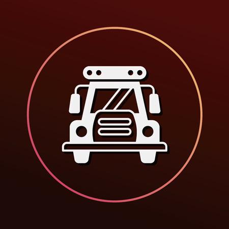 yellow schoolbus: school bus icon Illustration