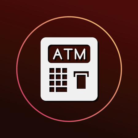 ATM icon Illustration