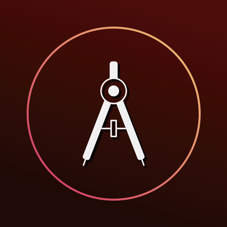 compasses: Stationery compasses icon